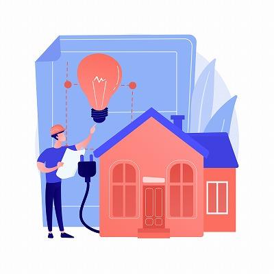 家庭専門の電気工事店のイメージ